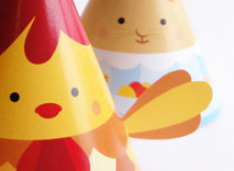 Easter Paper toys