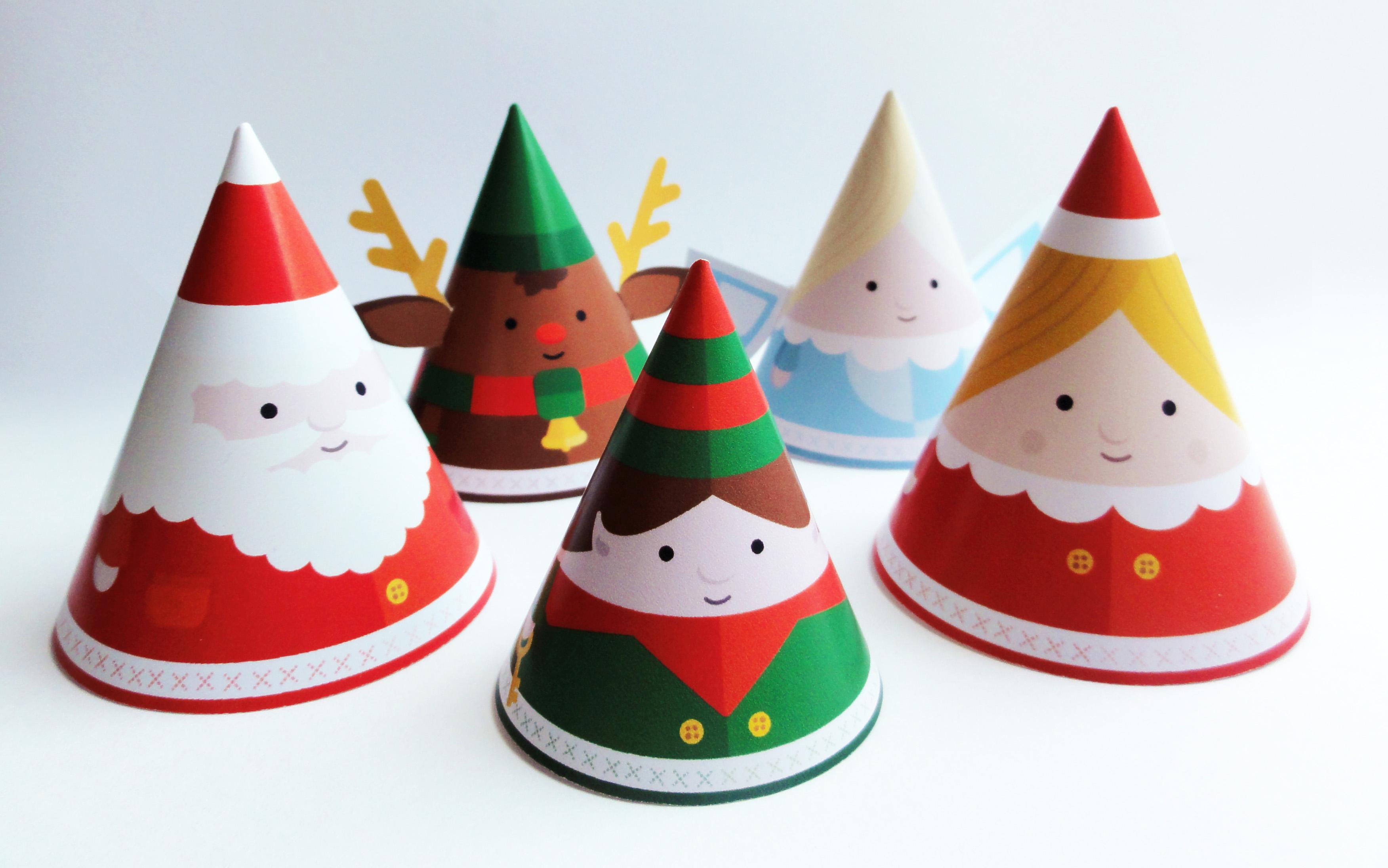 Papercraft imprimible y armable de sencillo adornos navideños. Manualidades a Raudales.